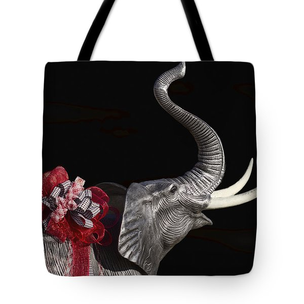 Dressed Up Like Bear Bryant For Christmas Tote Bag by Kathy Clark