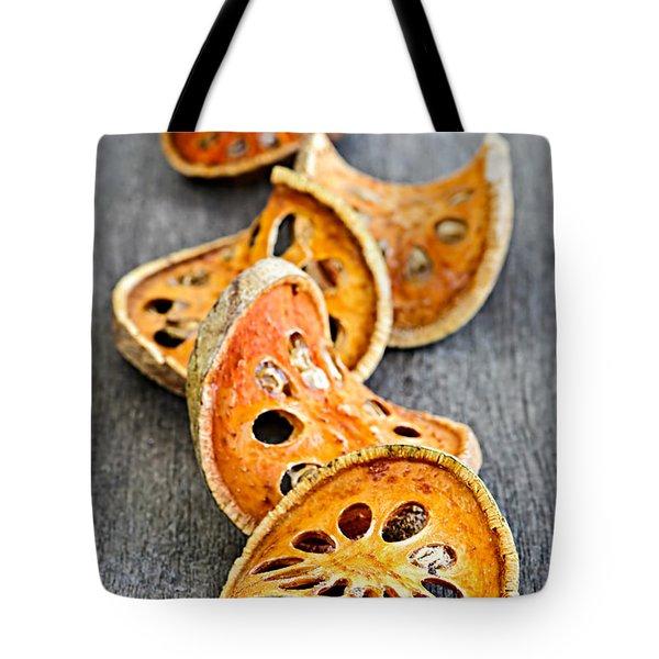 Dried Bael Fruit Tote Bag by Elena Elisseeva