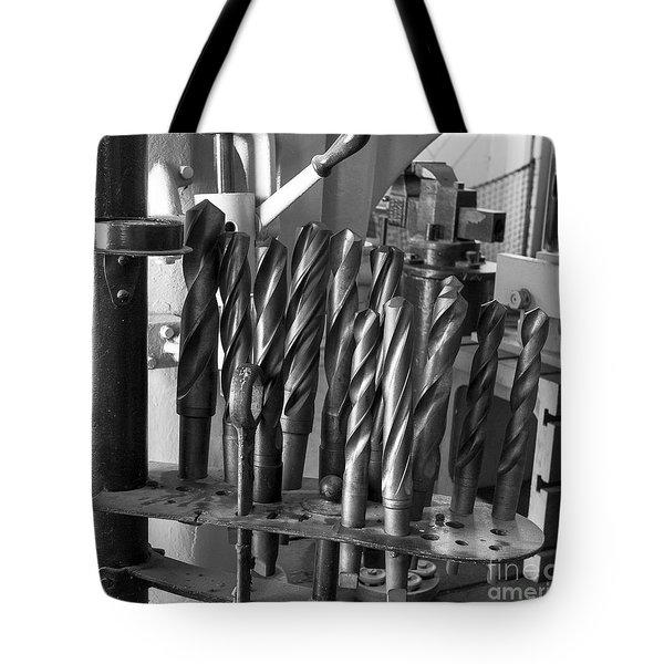 Drill Bits Tote Bag by Steven Ralser