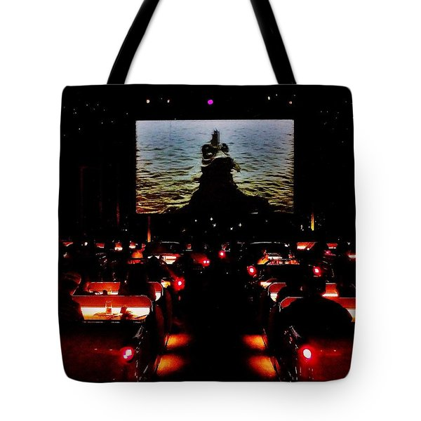 Drive-in Monster Movie Tote Bag by Benjamin Yeager