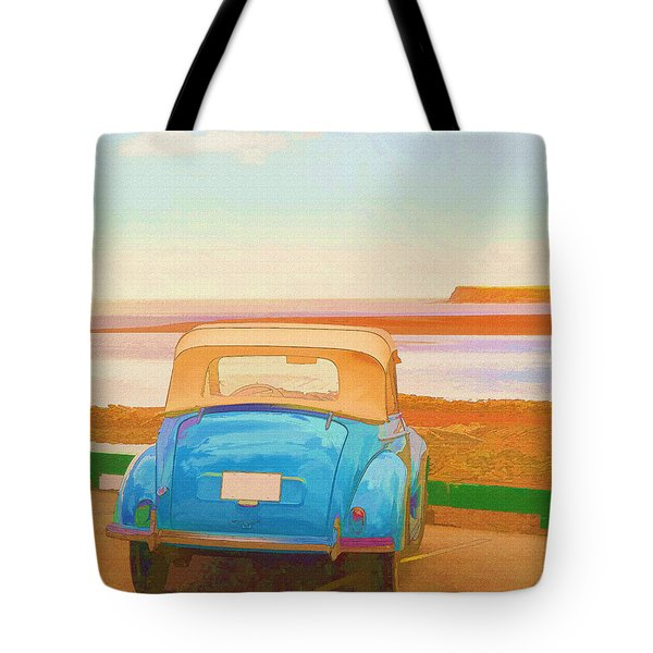Drive To The Shore Tote Bag by Edward Fielding