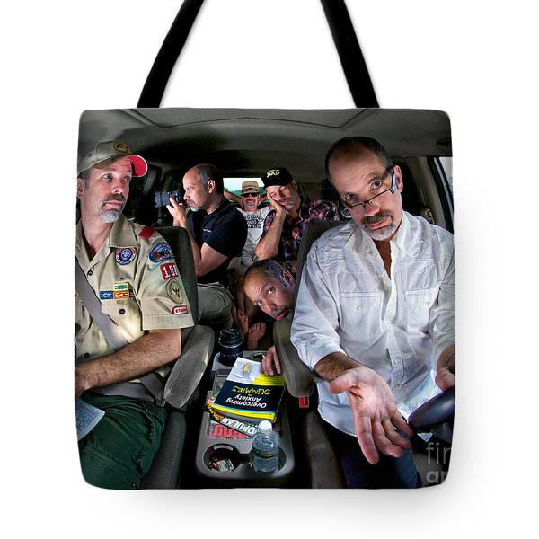 Driving Myself Crazy Tote Bag by Mark Miller