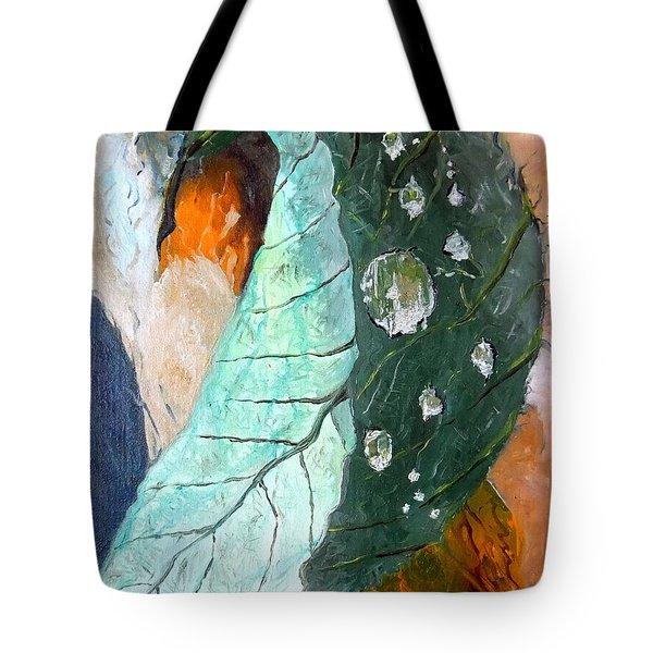 Drops On A Leaf Tote Bag by Daniel Janda