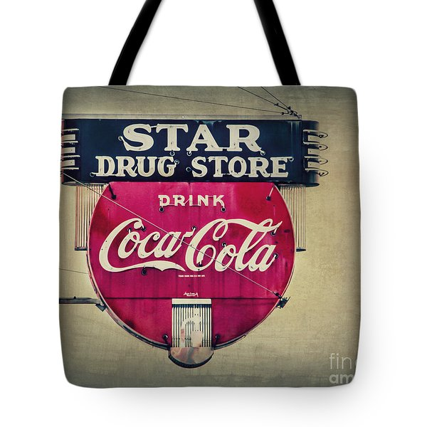 Drug Store Neon Tote Bag by Perry Webster