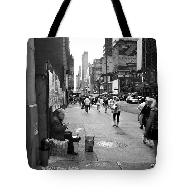 Drum For Change Tote Bag by Wayne Gill