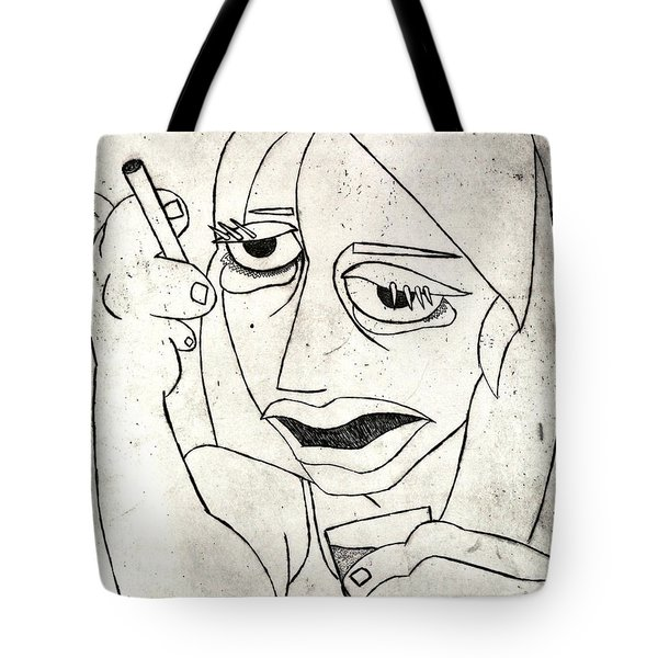 Drunk Girl Tote Bag by Thomas Valentine