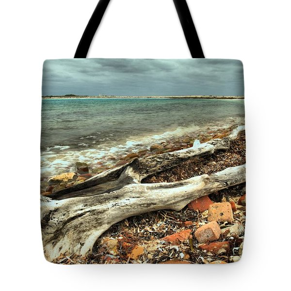 Dry Tortugas Driftwood Tote Bag by Adam Jewell