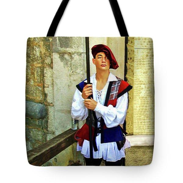 Dubrovnik Guard Tote Bag by Joan  Minchak