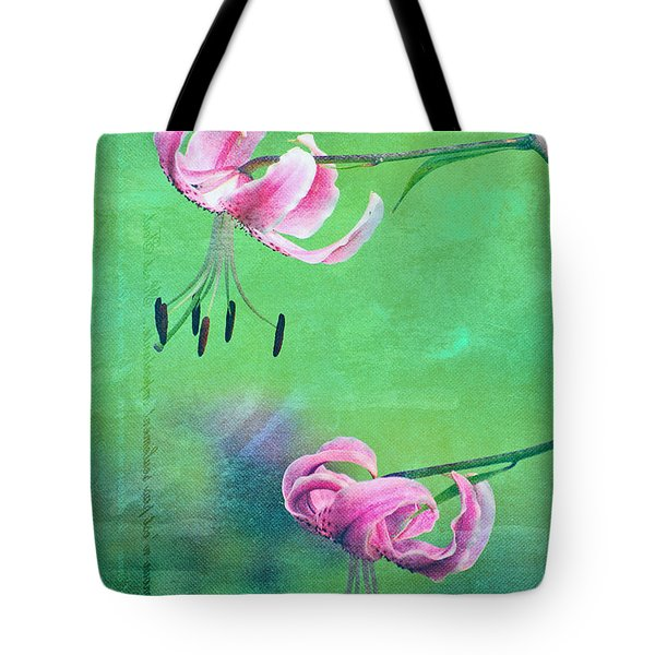 Duet - 9t01b Tote Bag by Variance Collections