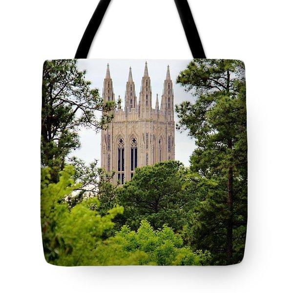 Duke Chapel Tote Bag by Cynthia Guinn