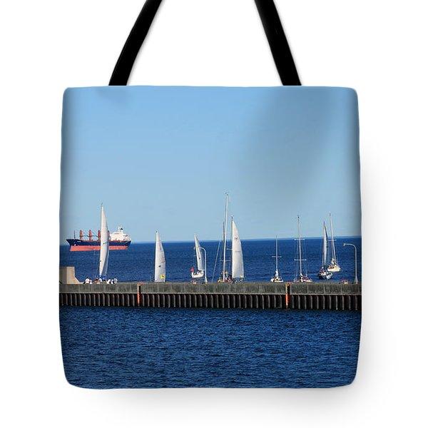 Duluth Mn Harbor Tote Bag by Lori Tordsen