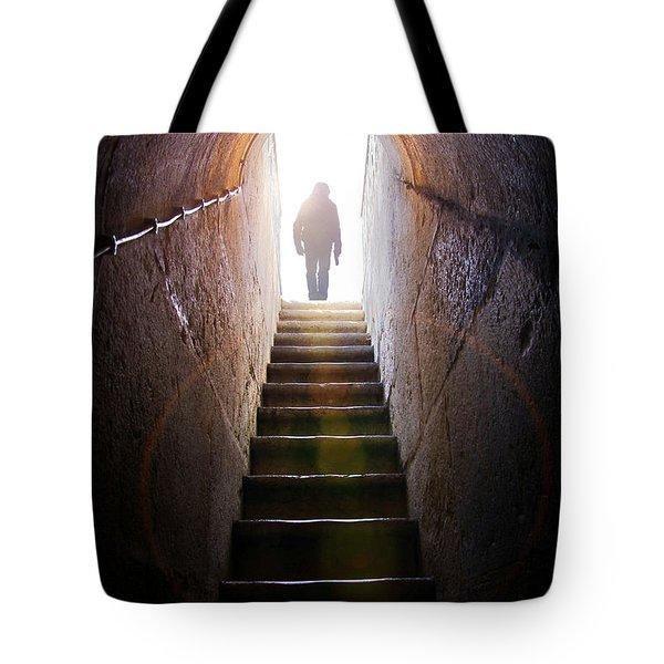 Dungeon Exit Tote Bag by Carlos Caetano