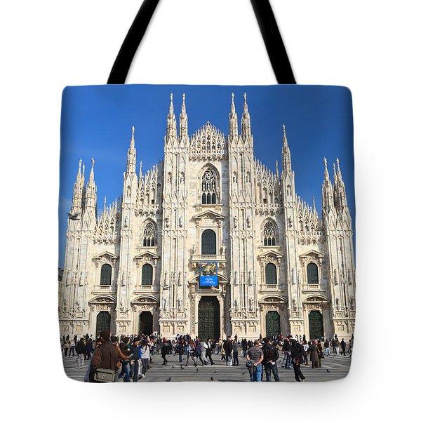 Duomo in Milano. Italy Tote Bag by Antonio Scarpi