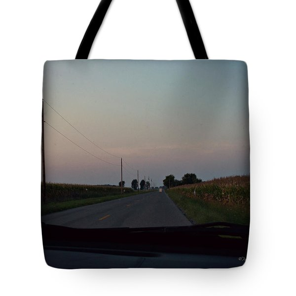 Dusk Between The Corn Stalks Tote Bag by Paulette B Wright