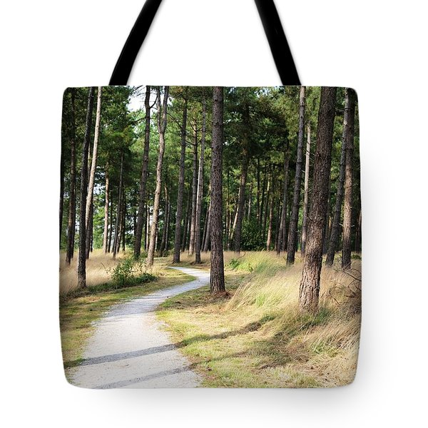 Dutch Country Bicycle Path Tote Bag by Carol Groenen