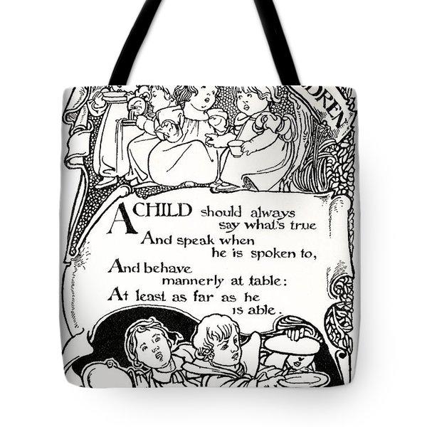 Duty Of Children  1895 Tote Bag by Daniel Hagerman