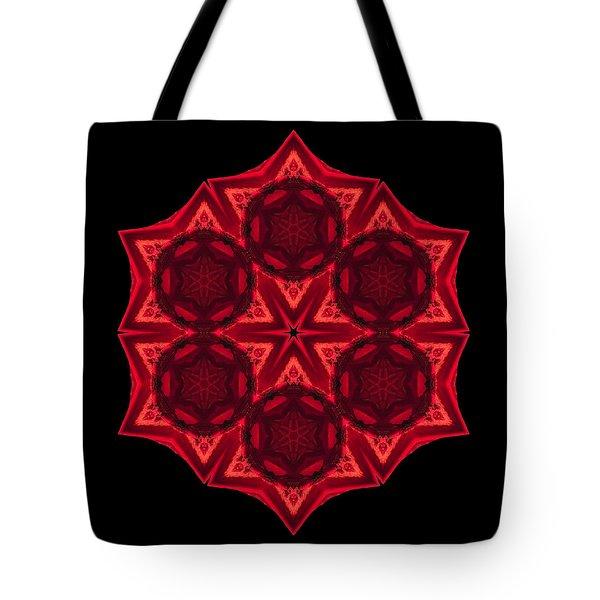 Dying Amaryllis IIi Flower Mandala Tote Bag by David J Bookbinder