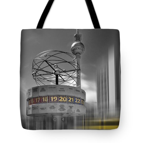 Dynamic-art Berlin City-centre Tote Bag by Melanie Viola