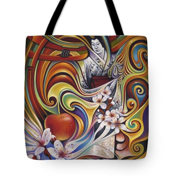 Dynamic Blossoms Tote Bag by Ricardo Chavez-Mendez