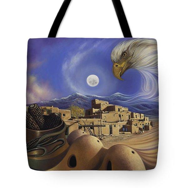 Dynamic Taos Ill Tote Bag by Ricardo Chavez-Mendez