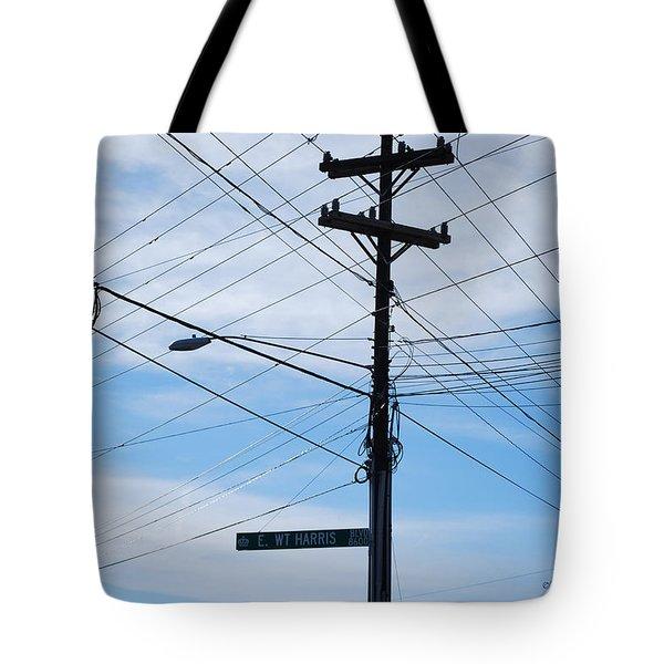 E Wt Harris Blvd - Charlotte Tote Bag by Paulette B Wright