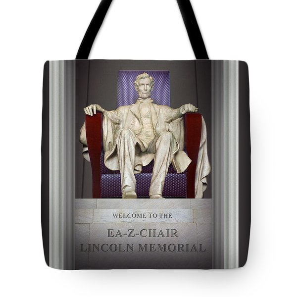 Ea-z-chair Lincoln Memorial 2 Tote Bag by Mike McGlothlen
