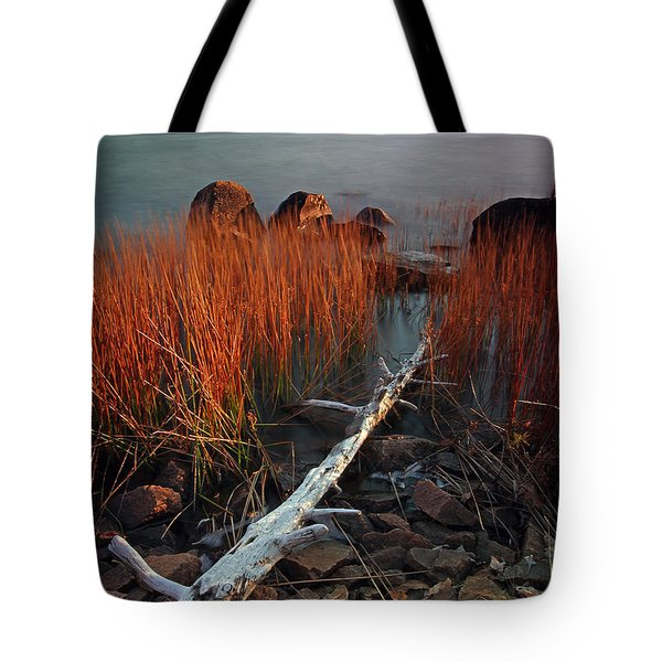 Eagle Lake at Autumn Tote Bag by Juergen Roth