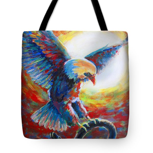 Eagle Takes Charge Tote Bag by Tamer and Cindy Elsharouni