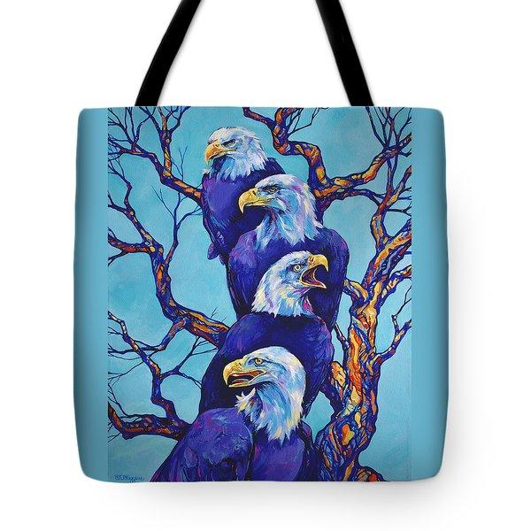 Eagle Tree Tote Bag by Derrick Higgins