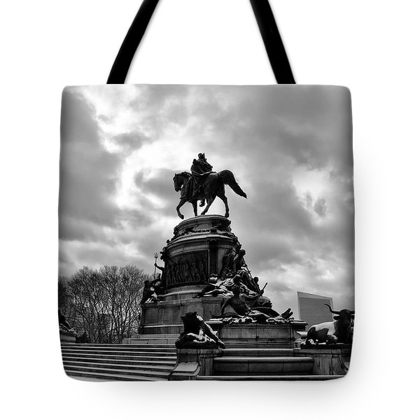 Eakins Oval in Winter Tote Bag by Bill Cannon