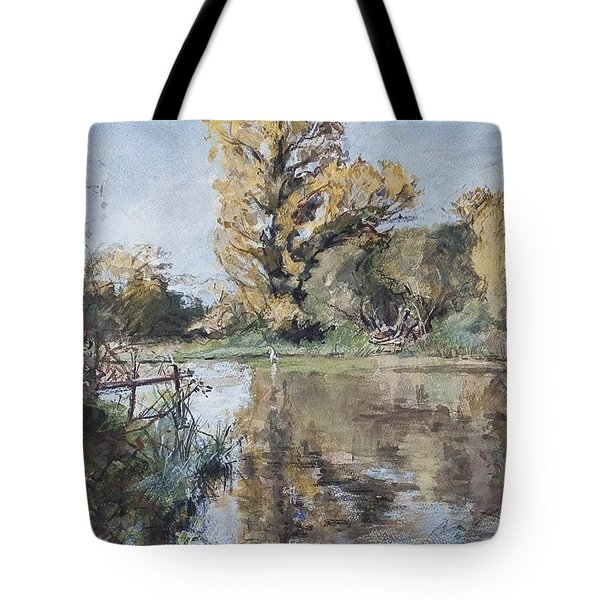 Early Autumn On The River Test Tote Bag by Caroline Hervey-Bathurst