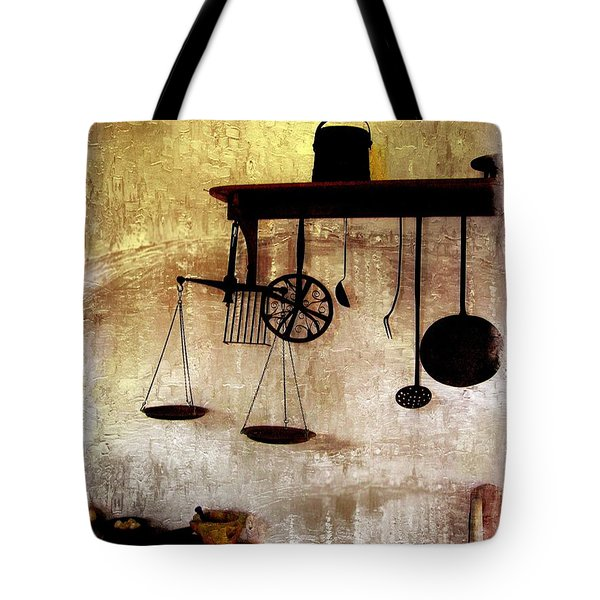Early Kitchen Tools Tote Bag by Marcia Lee Jones