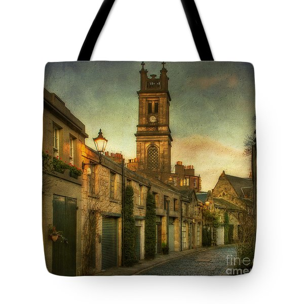 Early Morning Edinburgh Tote Bag by Lois Bryan