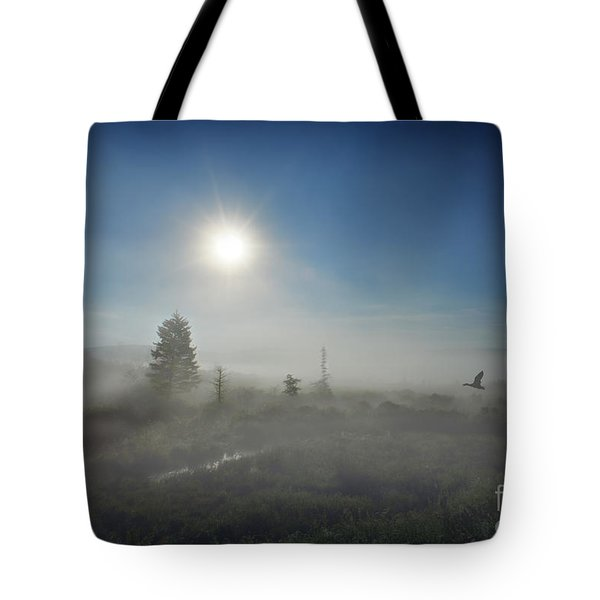Early morning fog at Canaan Valley Tote Bag by Dan Friend