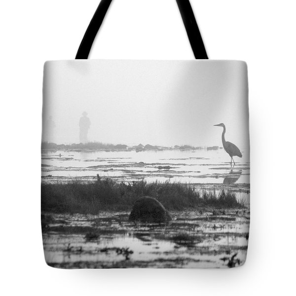 Early Morning Fog Tote Bag by Mike McGlothlen