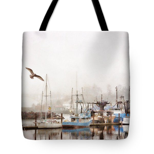 Early Morning Newport Oregon Tote Bag by Carol Leigh