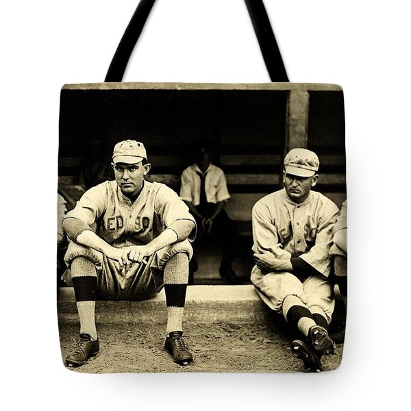 Early Red Sox Tote Bag by Benjamin Yeager