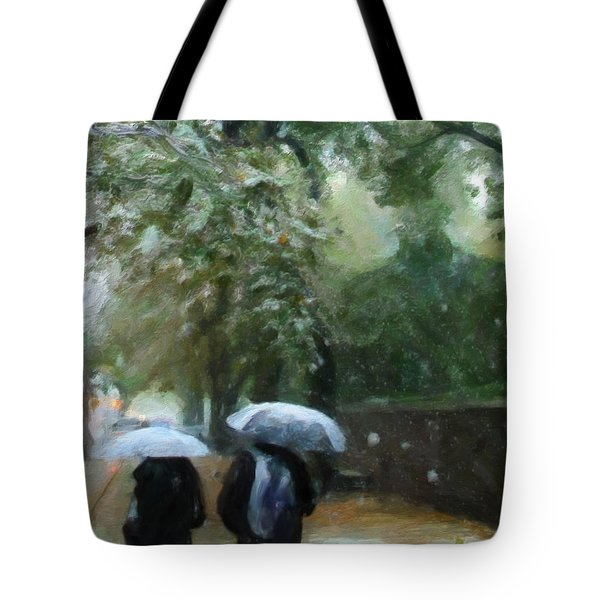 Early Snow Tote Bag by Michael Pickett