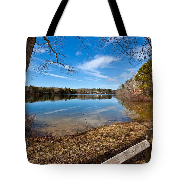 Early Spring on Long Pond Tote Bag by Michelle Wiarda