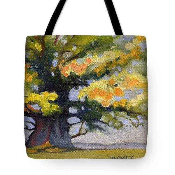 Earlysville Virginia Ancient White Oak Tote Bag by Catherine Twomey