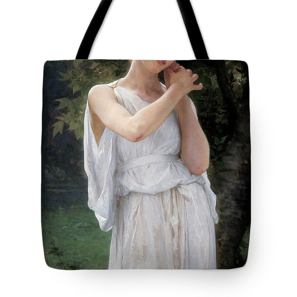 Earrings Tote Bag by William Adolphe Bouguereau