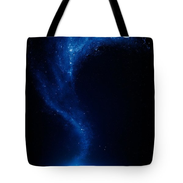 Earth and moon interconnected Tote Bag by Johan Swanepoel