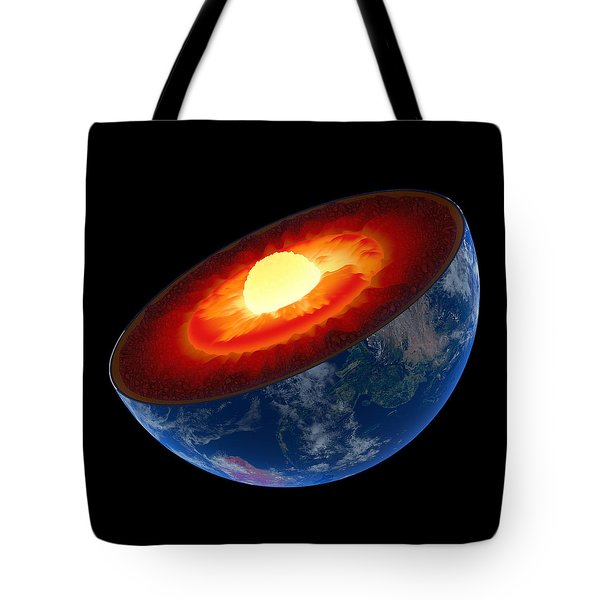 Earth Core Structure To Scale - Isolated Tote Bag by Johan Swanepoel