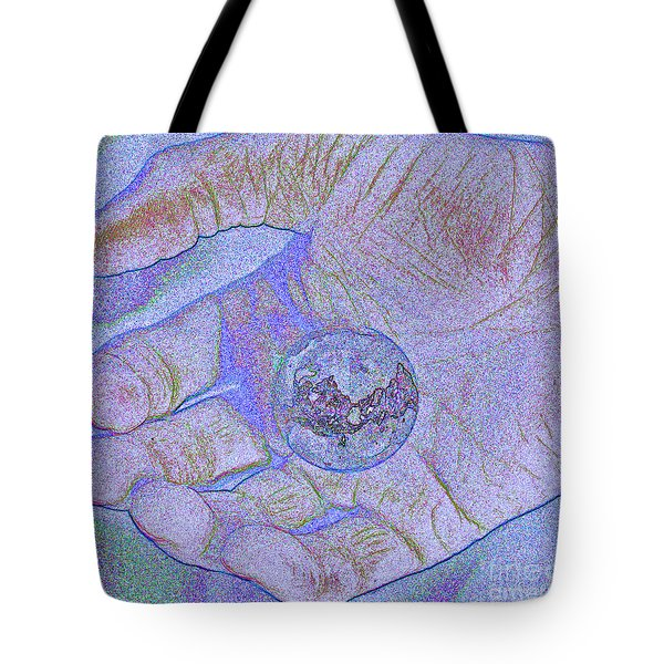 Earth In Hand Tote Bag by First Star Art