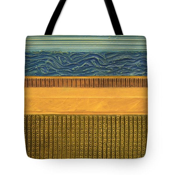 Earth Layers Abstract l Tote Bag by Michelle Calkins
