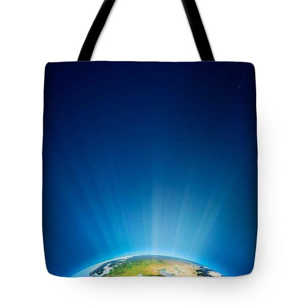 Earth Radiant Light Series - Europe Tote Bag by Johan Swanepoel