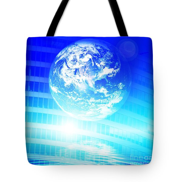 Earth technology background Tote Bag by Michal Bednarek