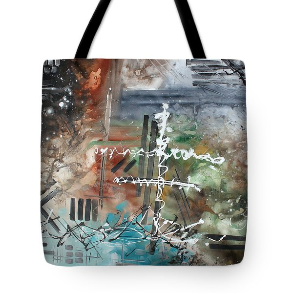 Earth Wind And Fire Abstract Painting Madart Tote Bag by Megan Duncanson