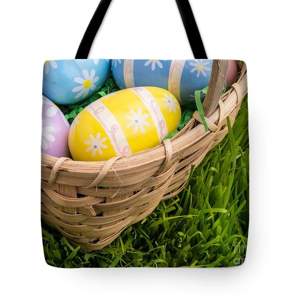 Easter Basket Tote Bag by Edward Fielding