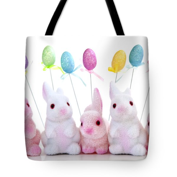 Easter bunny toys Tote Bag by Elena Elisseeva